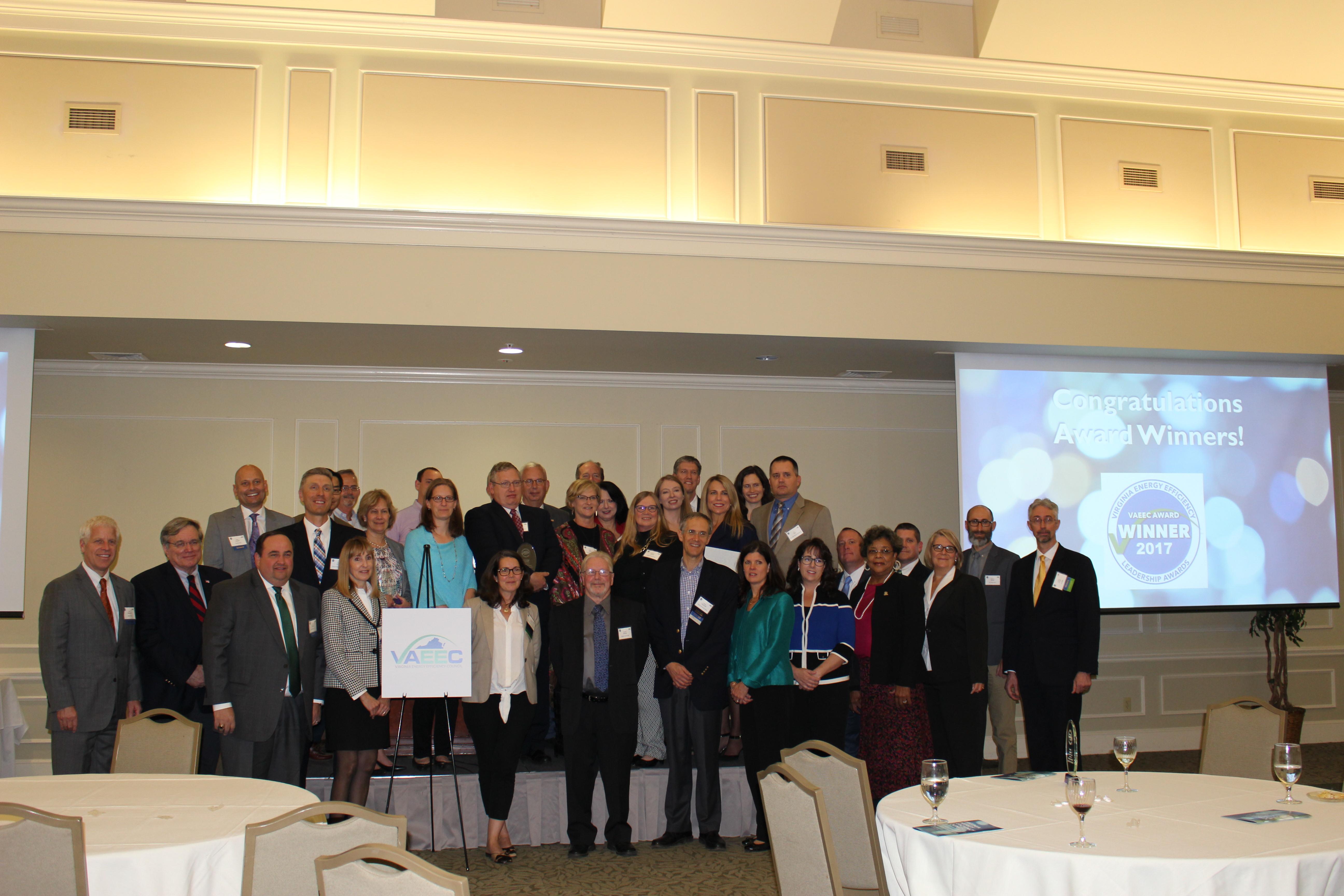 VAEEC Energy Efficiency Leadership Award winner