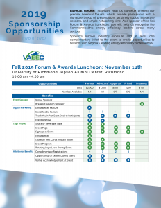 VAEEC 2019 Sponsorship Opportunities